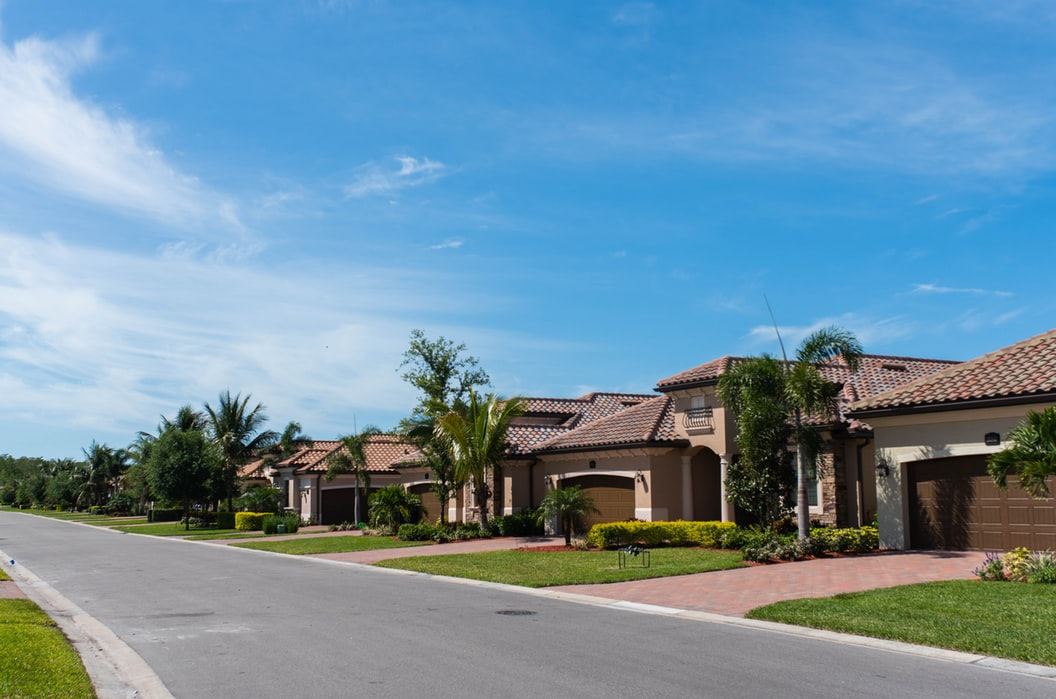A row of homes in Florida.