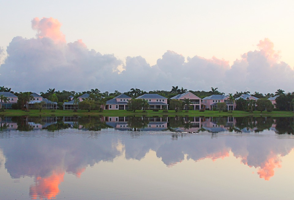 Florida waterfront homes.