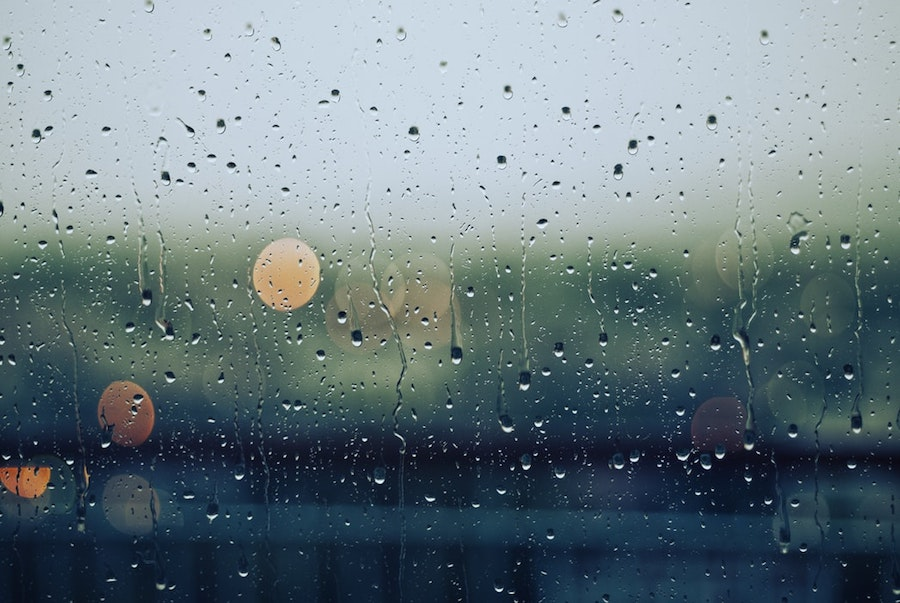 Rain on a window.