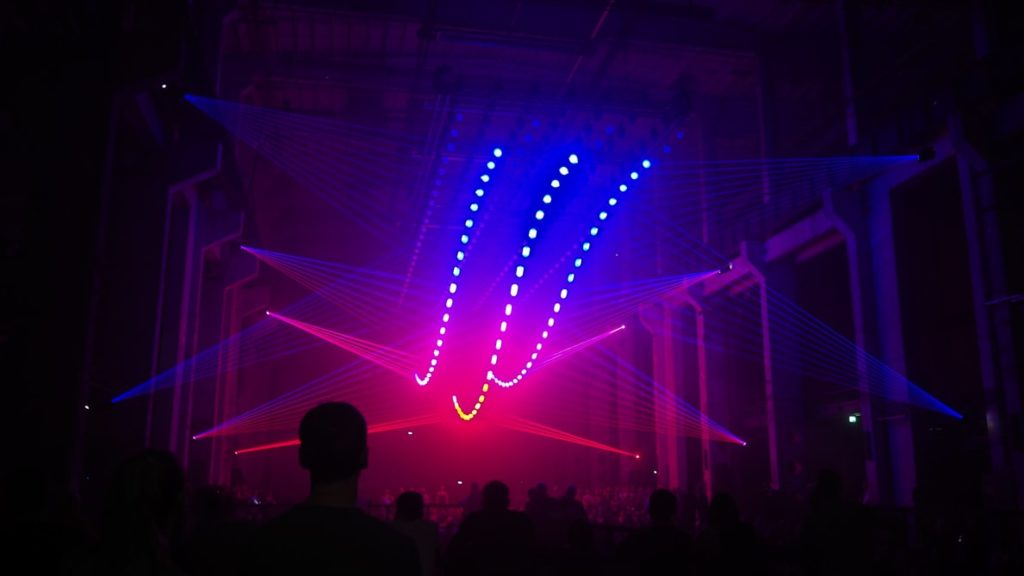Lasers at a New Year's Eve event.